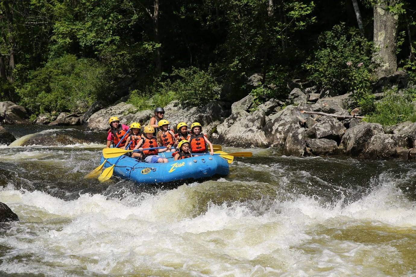 A rafting adventure on the Deerfield river