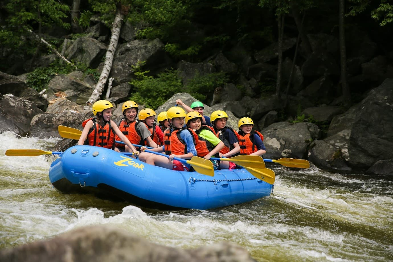 Teen rafting adventure program in New England