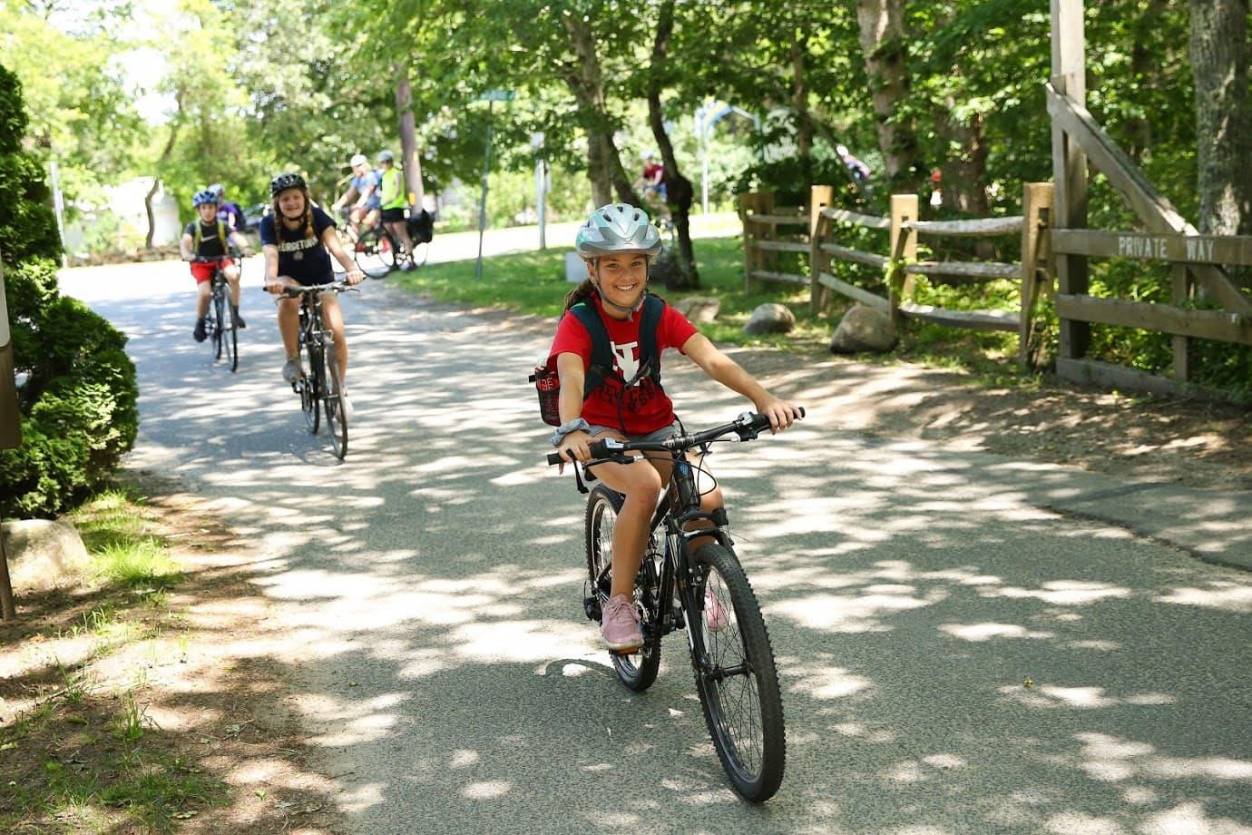 Teen biking adventure program in New England