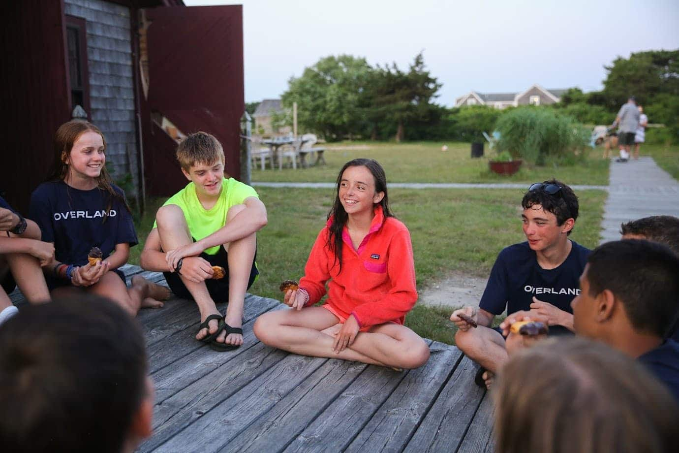 Campers reflect on a day well spent on a bicycle trip on Cape Cod this Summer
