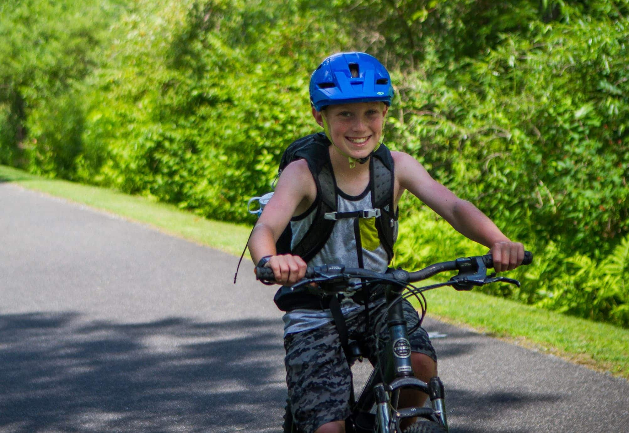 Cycling is fun if you are on a teen adventure program in New England