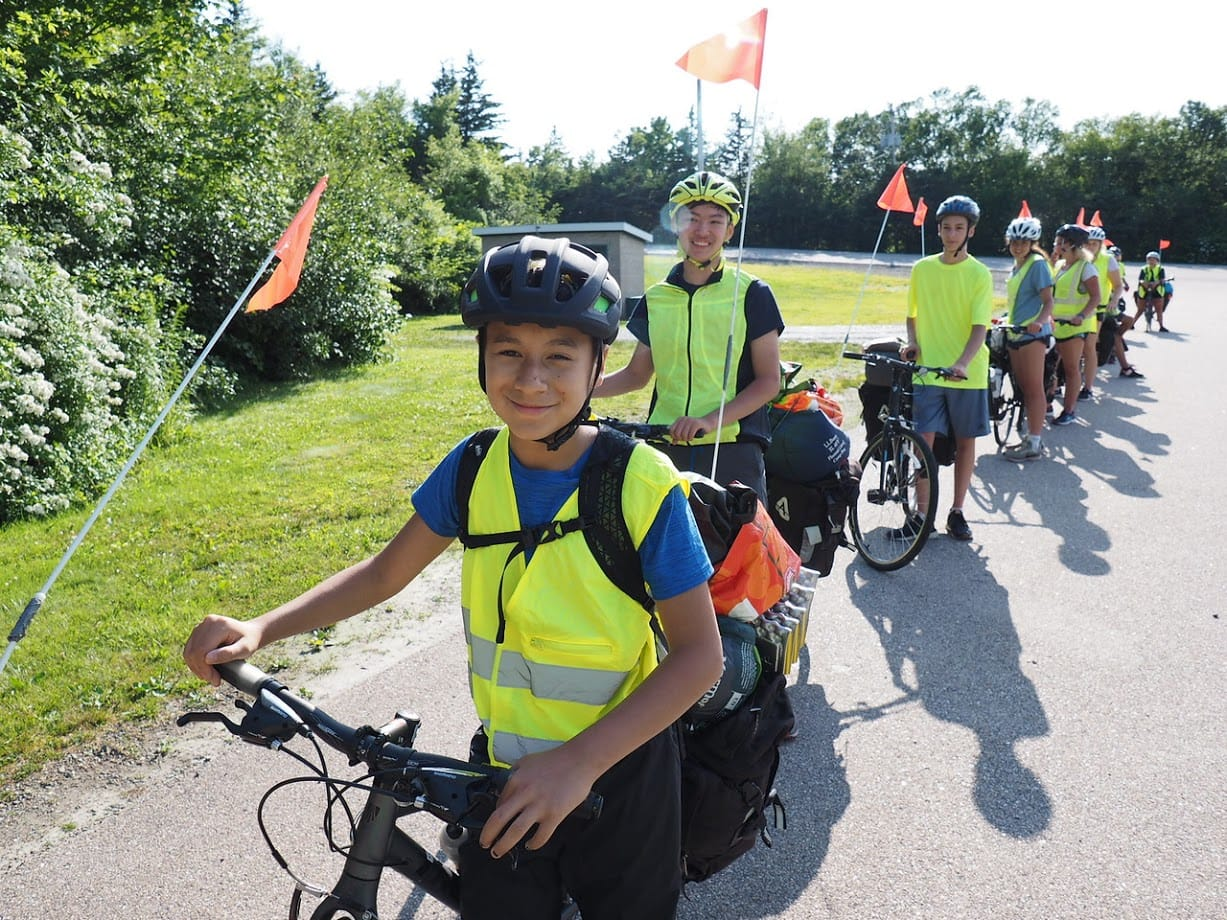 Smiles for miles on a teen summer biking trip in Nova Scotia