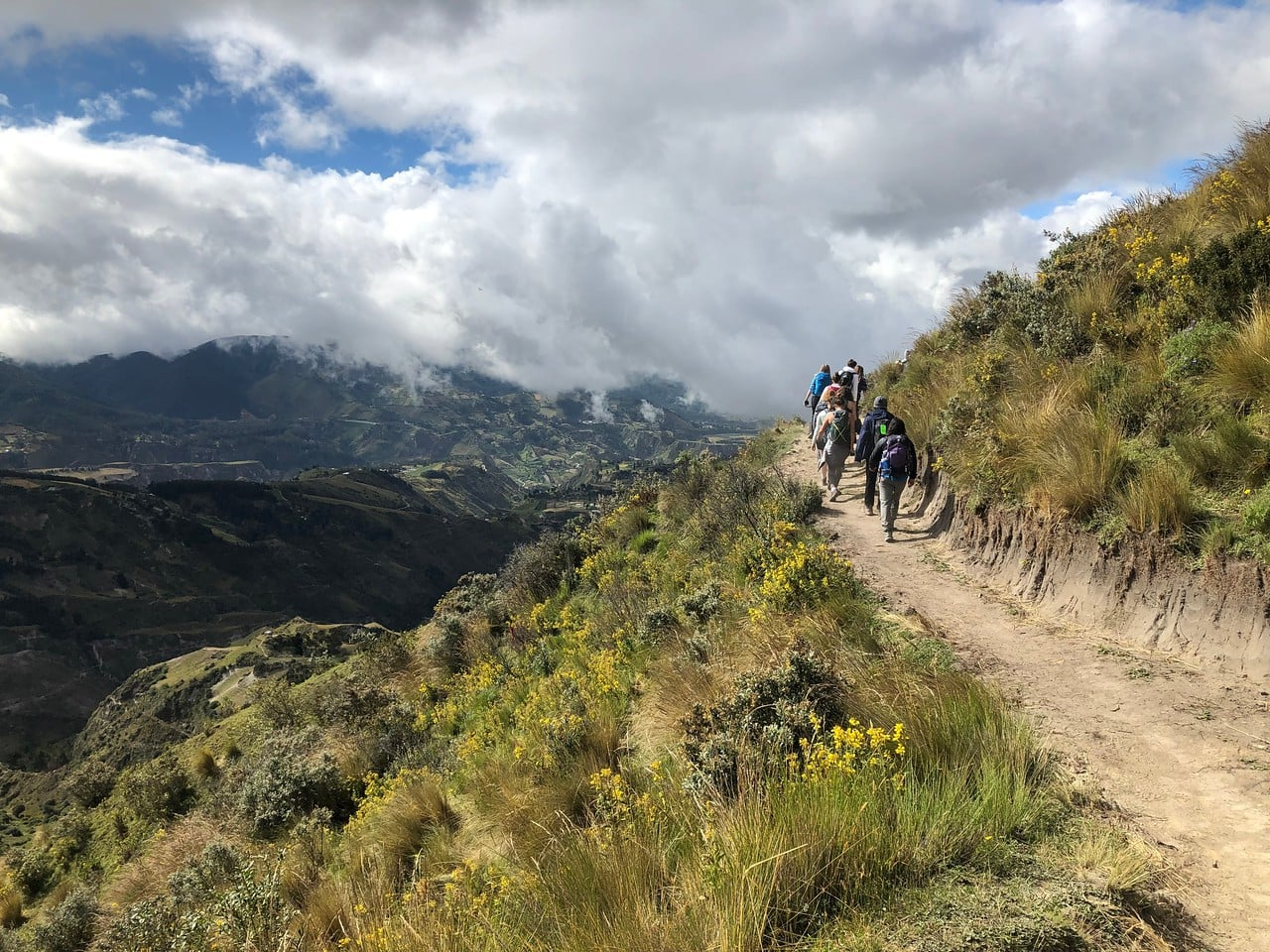 Teens take a hike in the Andes while on a hiking adventure this summer