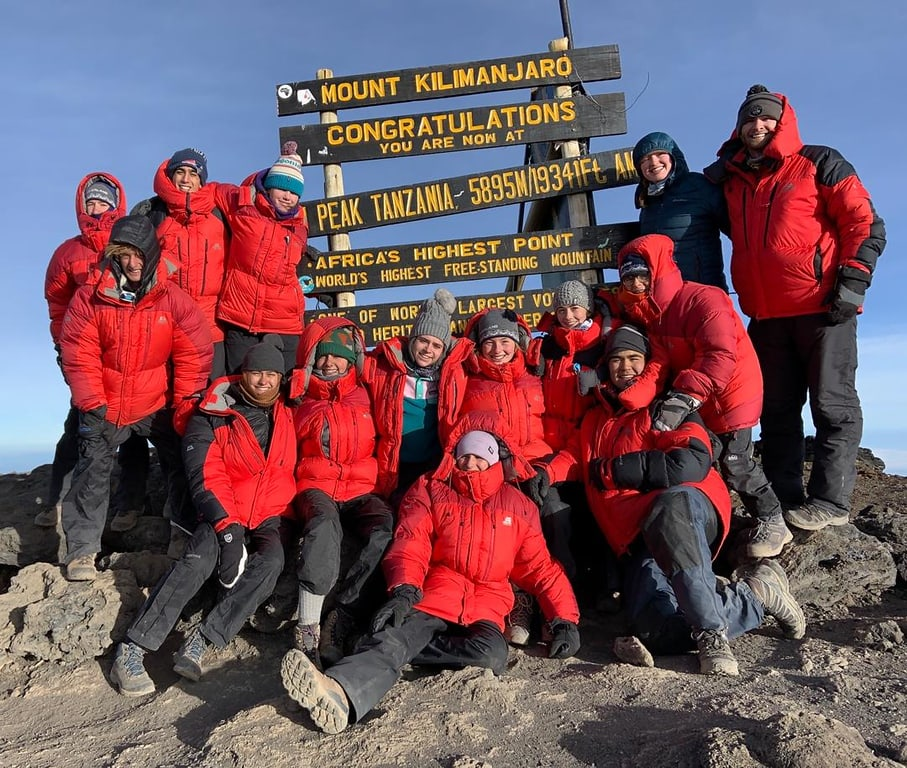 Campers hike to the summit of Mt. Kilimanjaro this summer during a field studies program in Tanzania