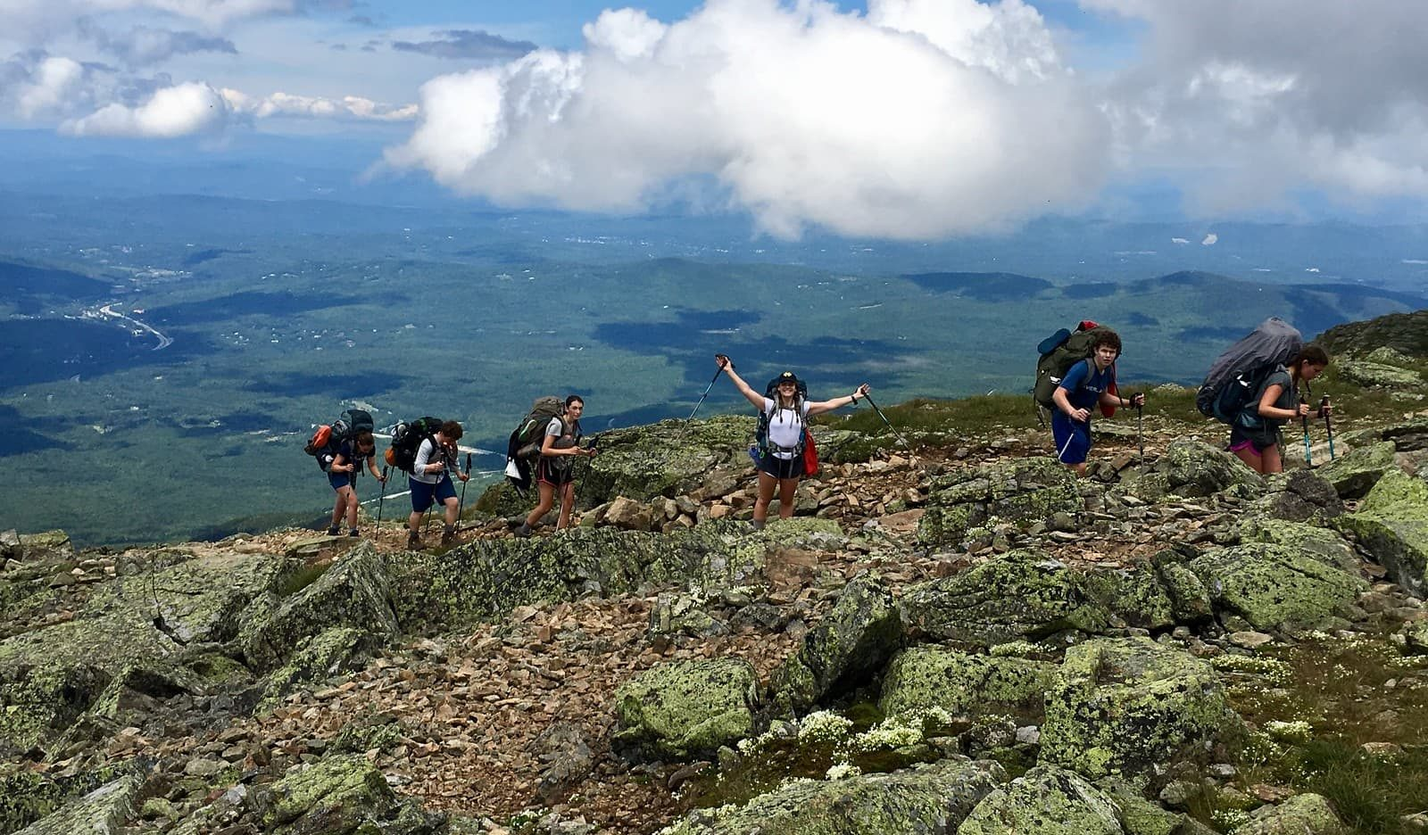 Campers can't help but throw up their hands this summer when hiking on the Appalachian trail challenge program