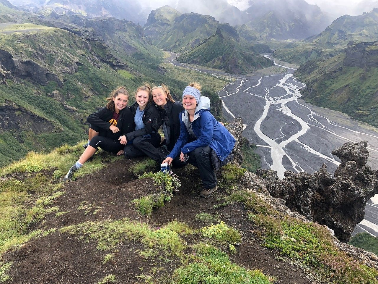 Pausing for a photo opportunity is what our campers do best on their teen adventure program in Iceland this Summer