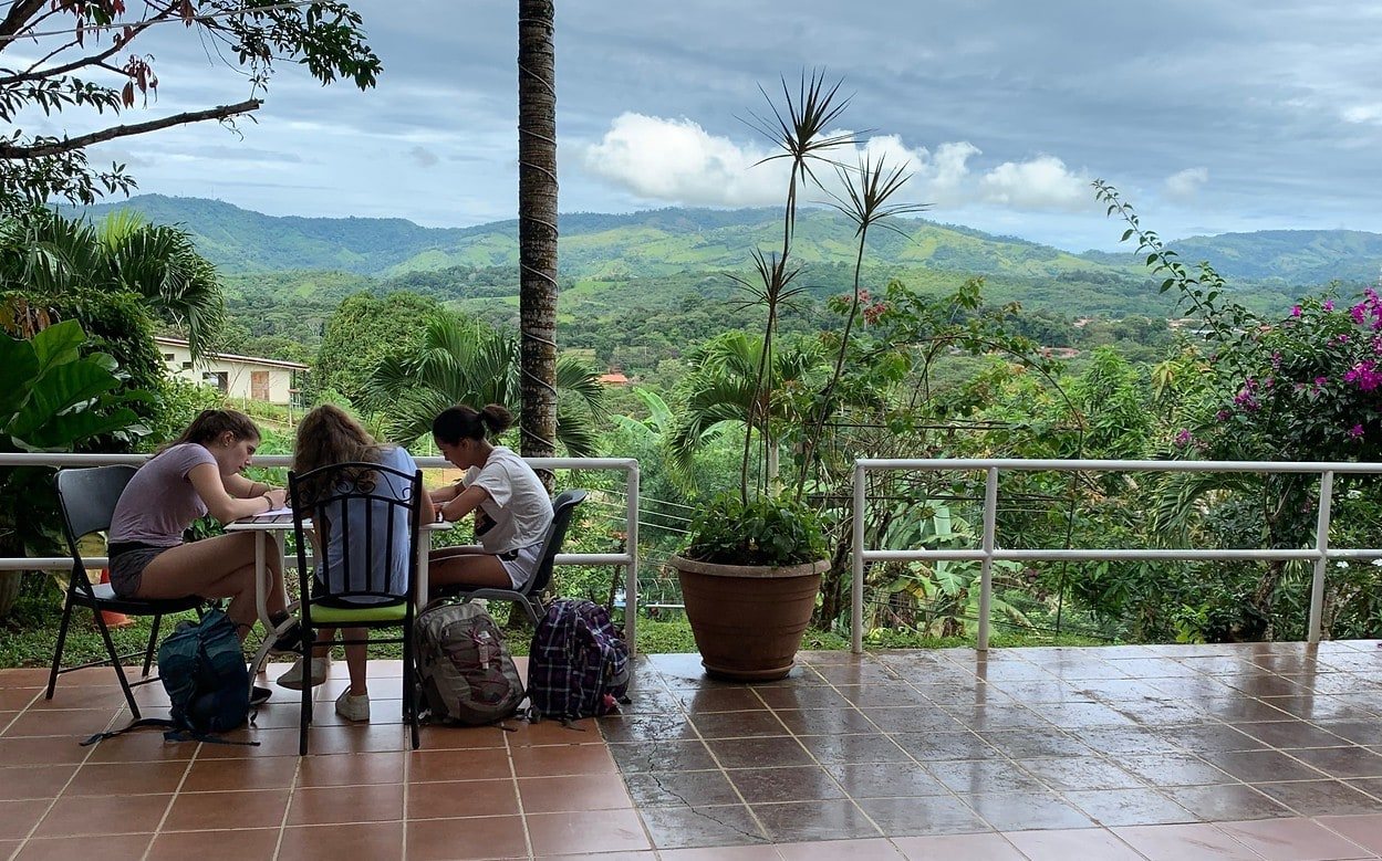 Campers study diligently on their summer adventure program in Costa-Rica designed for teens
