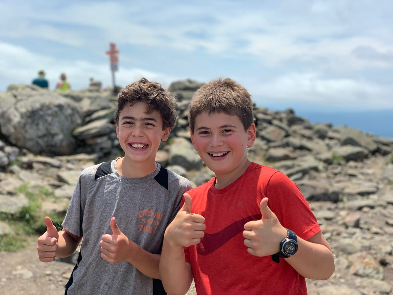 Two big smiles on a teen adventure program in New England