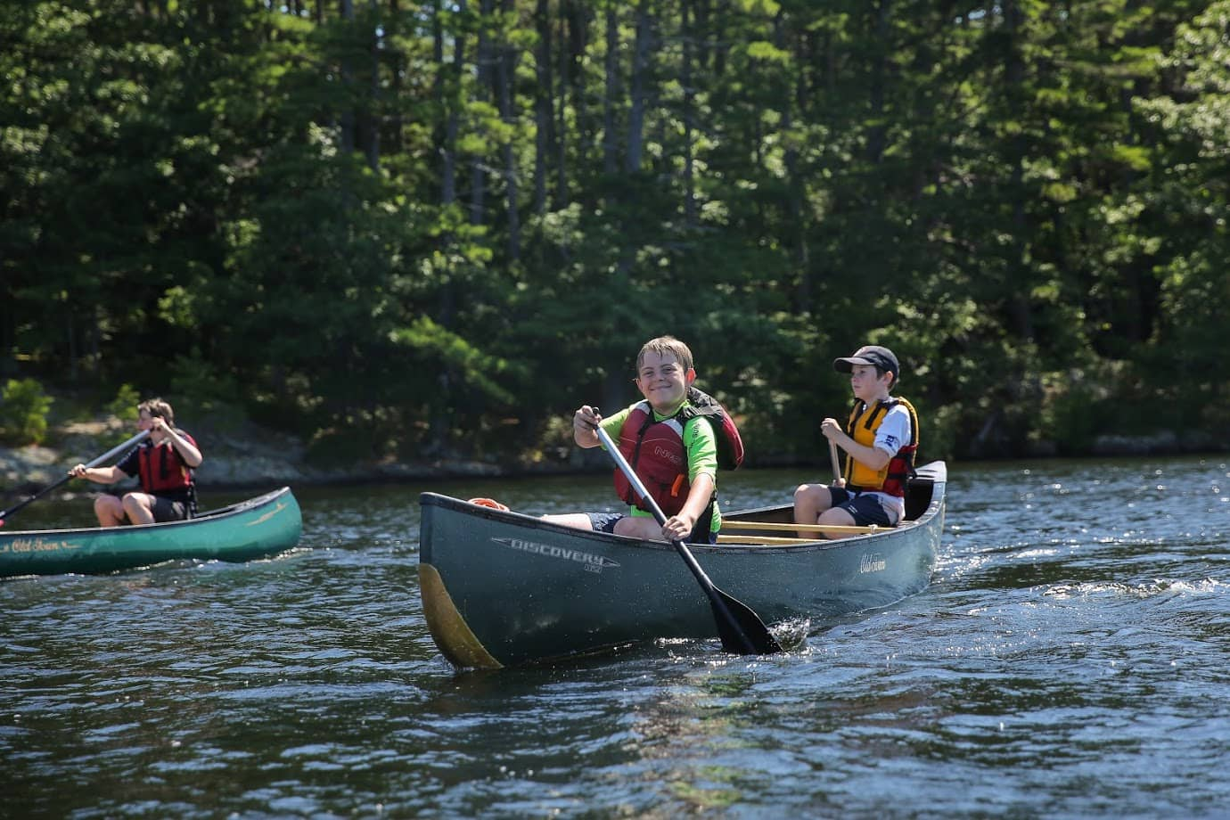 Canoeing in Maine on a teen adventure program