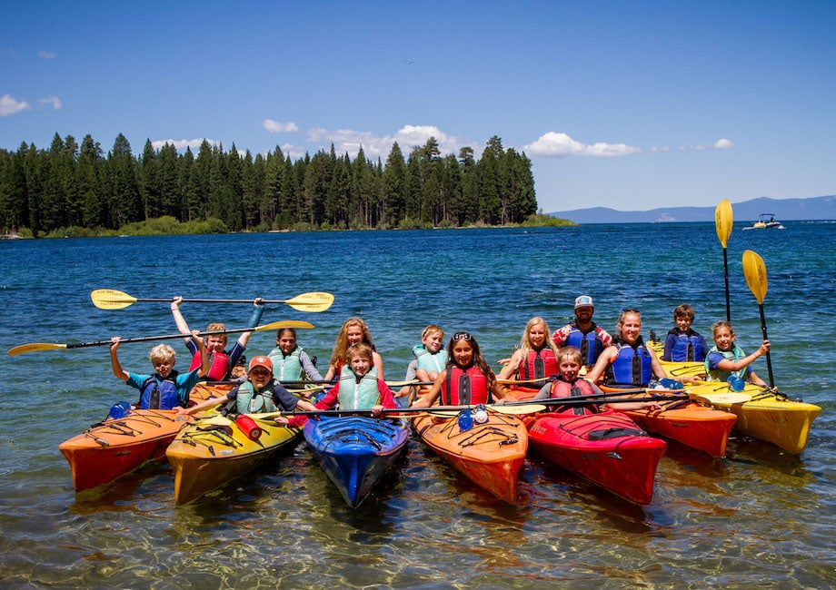 Group of teens on a kayaking adventure this Summer with Overland