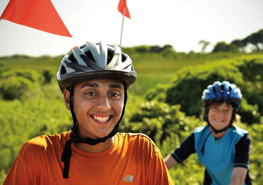 Its hard not to smile when participating in a Summer Biking trip on Cape Cod run by Overland