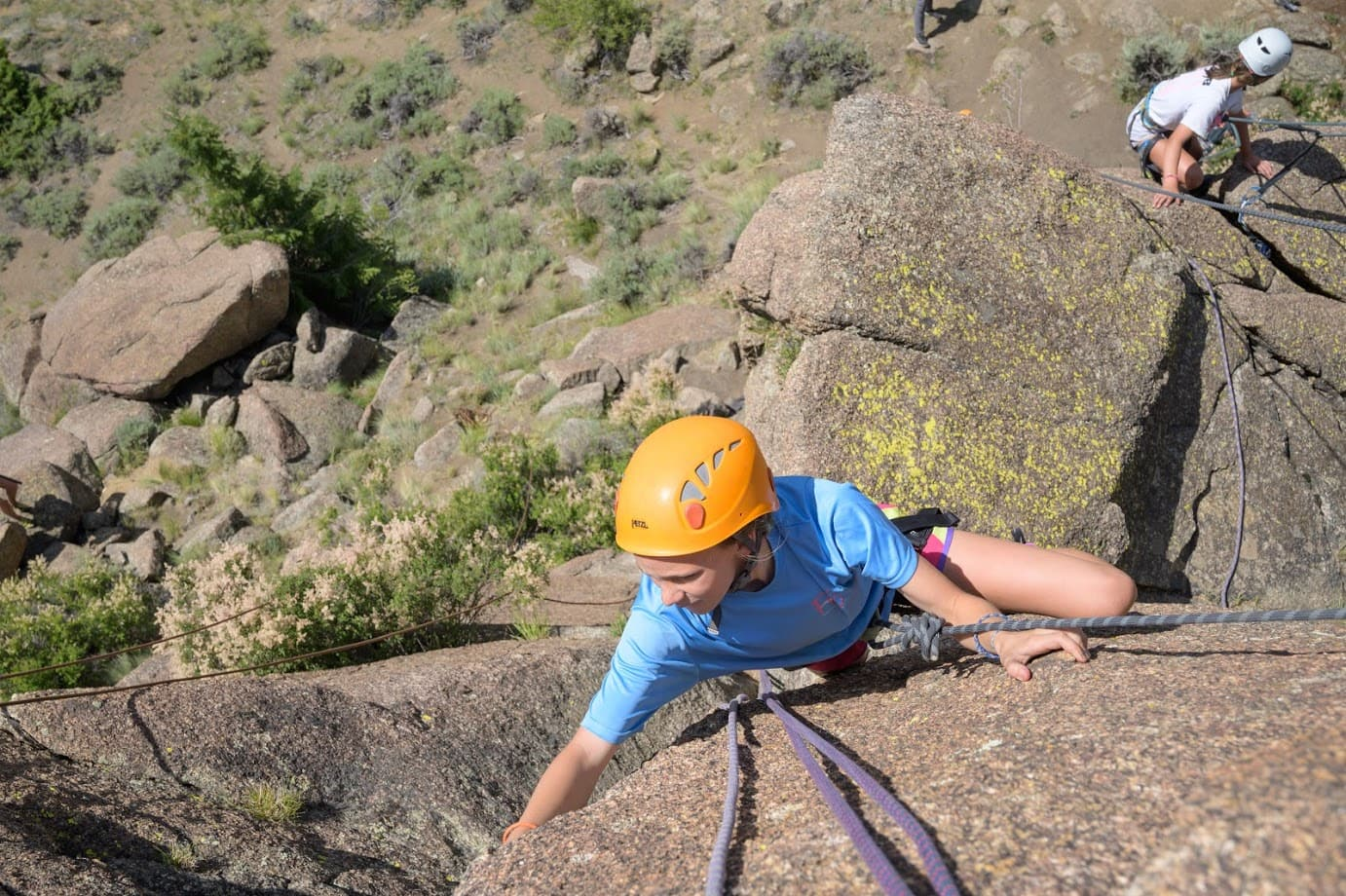 Climbing is super fun when you are on a teen adventure program