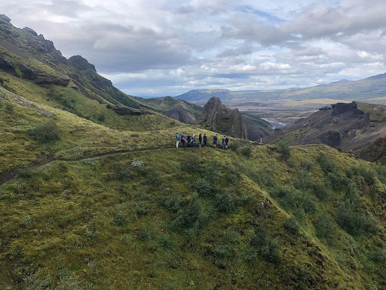 Teen adventure program hiking through the beautiful wilderness of Iceland this summer