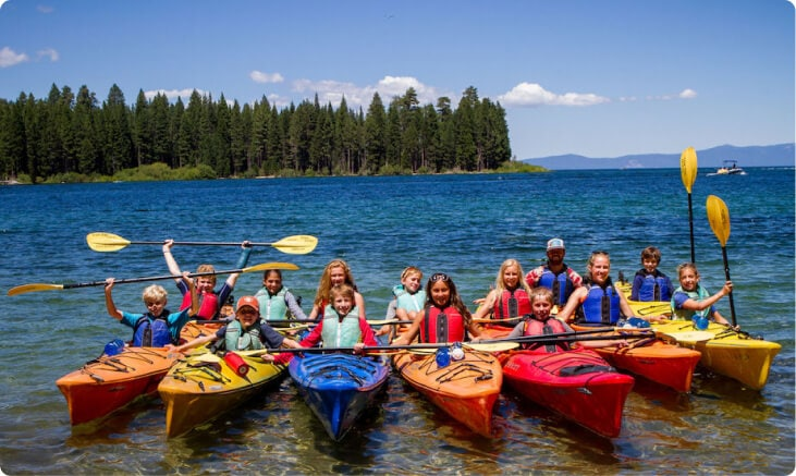 Teens take a summer kayaking trip on an adventure program with Overland.