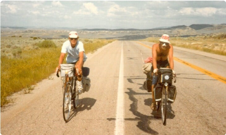 Tom Costley on the very first teen summer biking trip at Overland