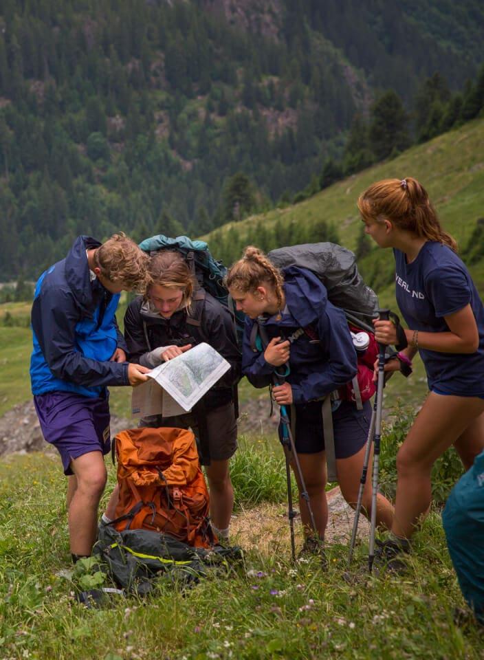 reading hiking map