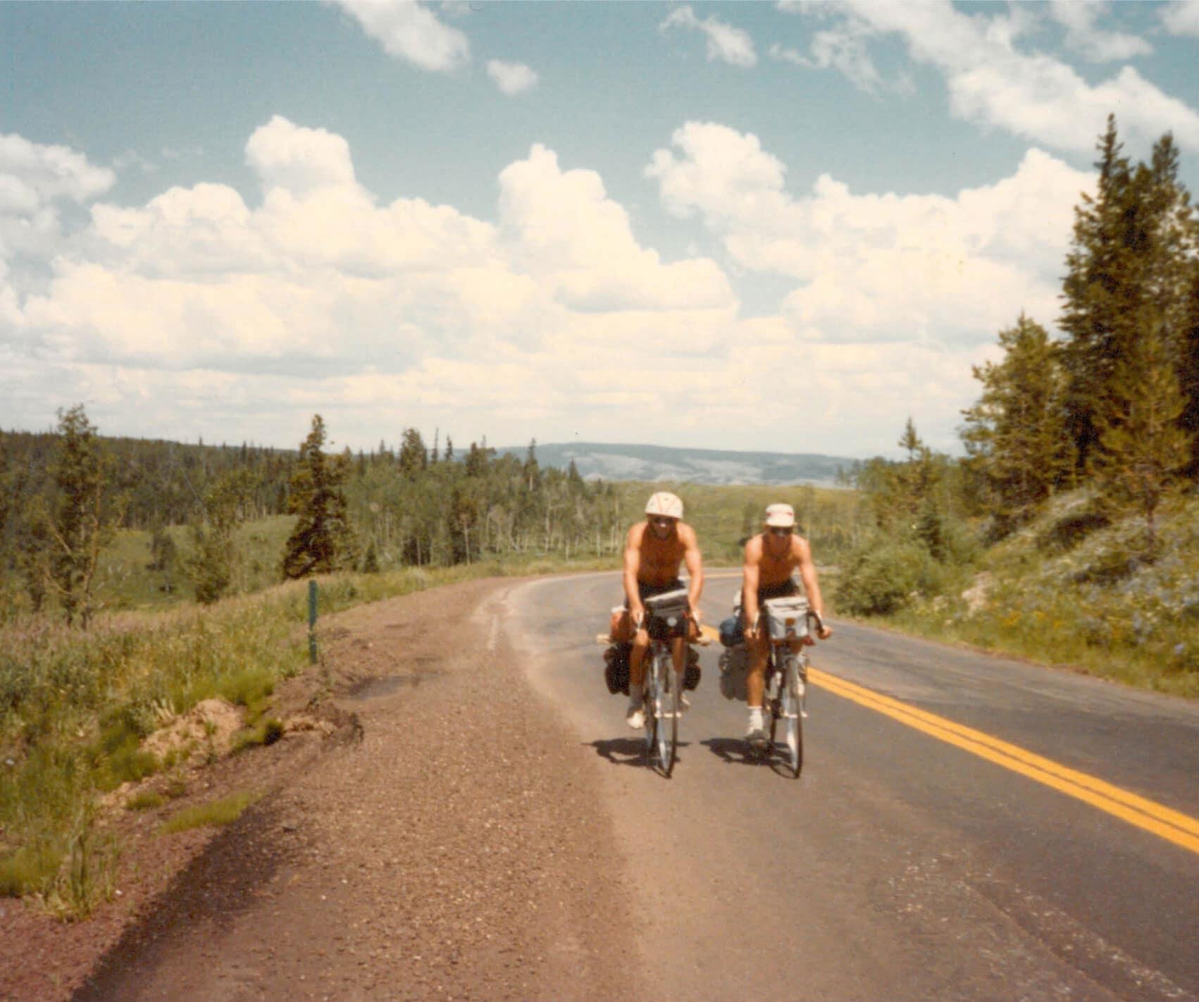 Tom Costley on a teen summer biking trip in 1982