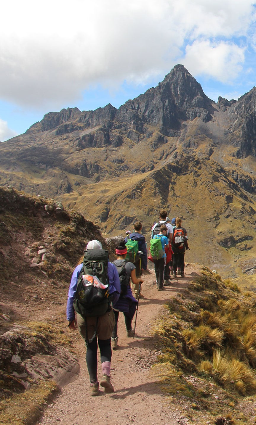 hiking andes