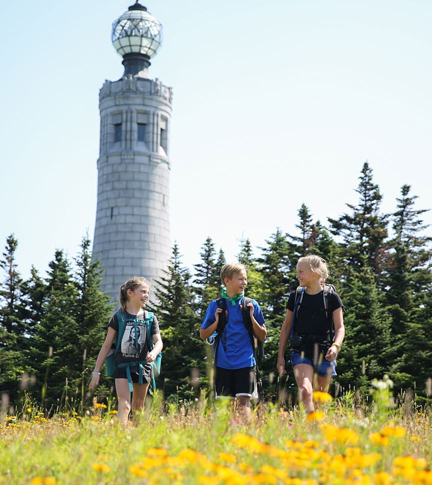 Pre-teens hike on their Overland adventure trip