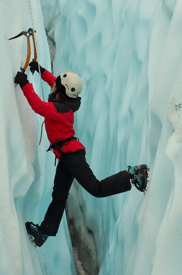 Teenagers learn to ice climb in Alaska this summer while on an adventure program with Overland