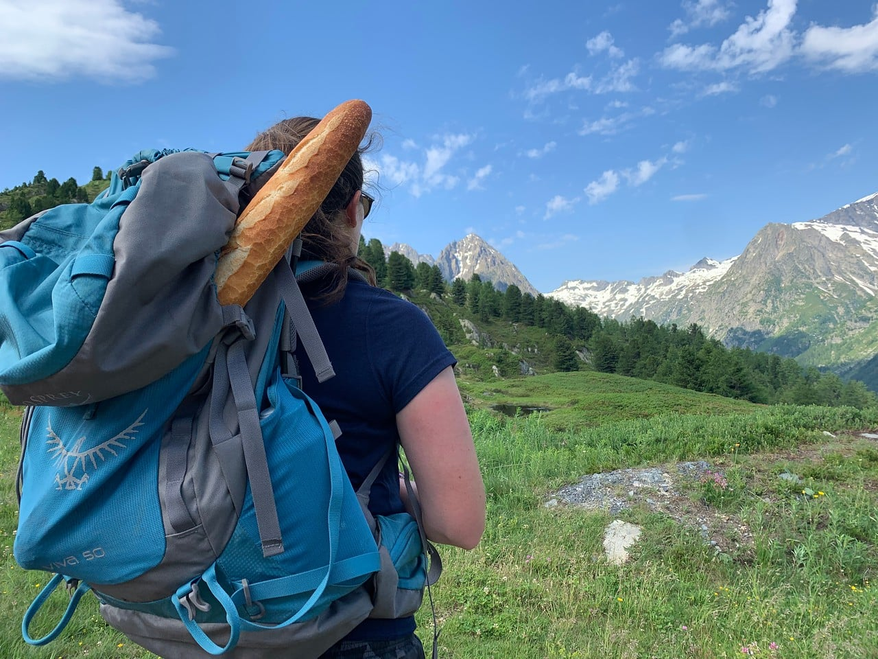 Teen well prepared for her hike into the mountains this summer
