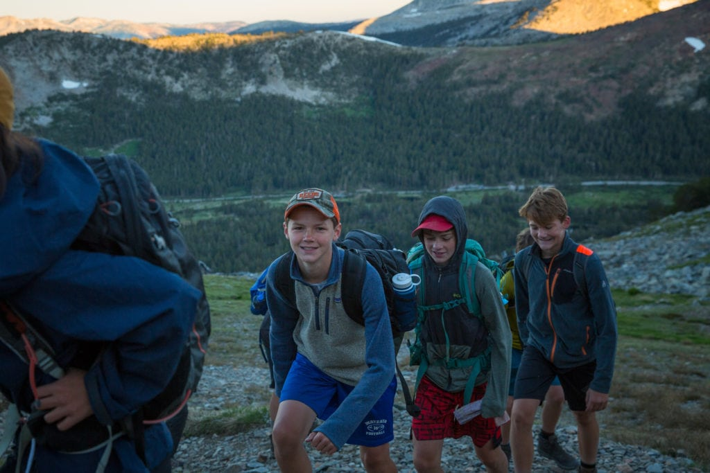 Challenge Hike on our Sierra Explorer Teen Summer Adventure